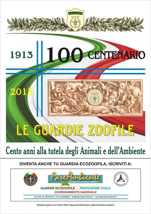 Manifesto del 100 anni Guardie Zoofile1