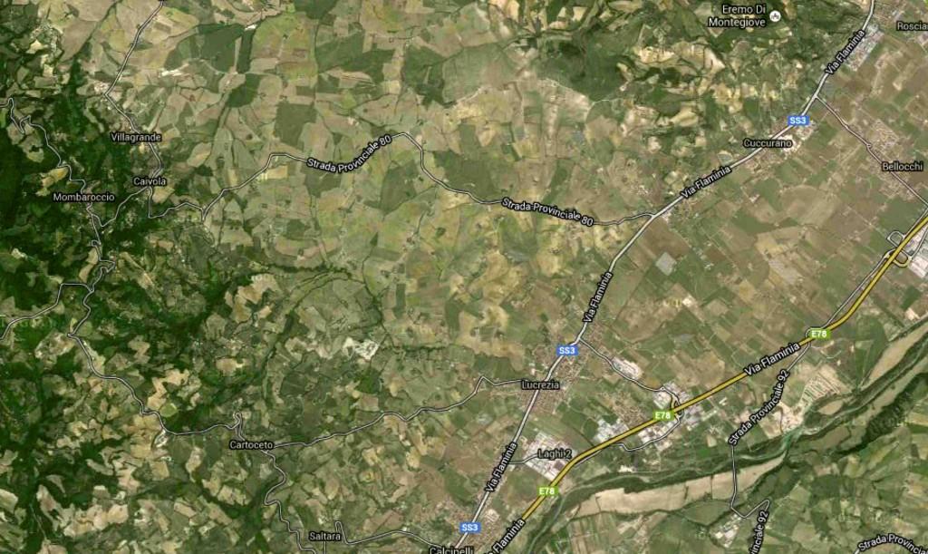 da Fano PU a Cartoceto PUconvento - Google Maps 2