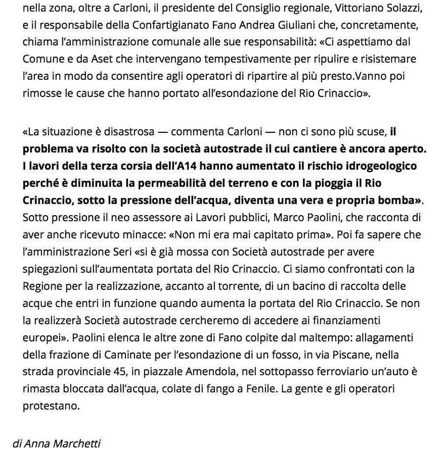 Maltempo, nubifragio tra Fano e Mondolfo: famiglie evacuate a Ponte Rio - Fano - il Resto del Carlino - Notizie di Bologna e dell'Emilia Romagna, di Ancona e delle Marche2