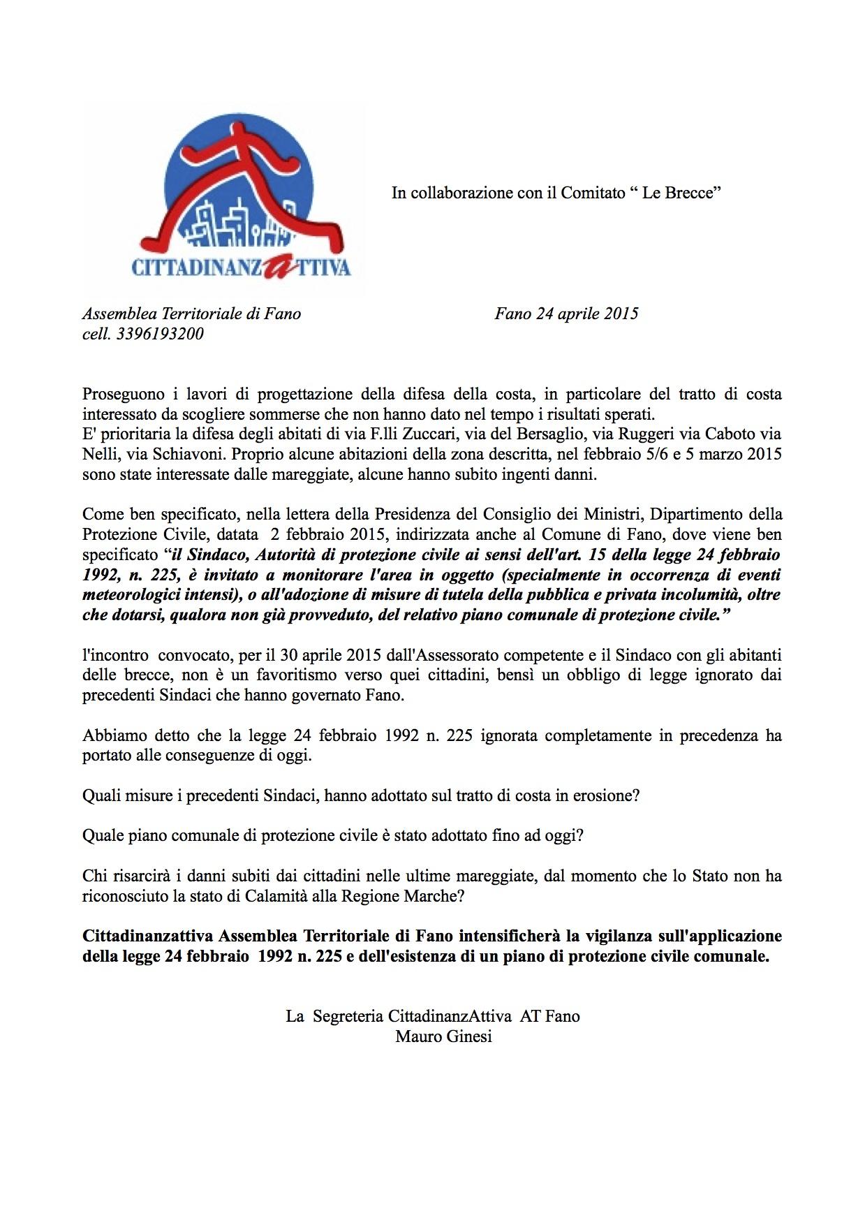 24:04: 2015Comunicato stampa