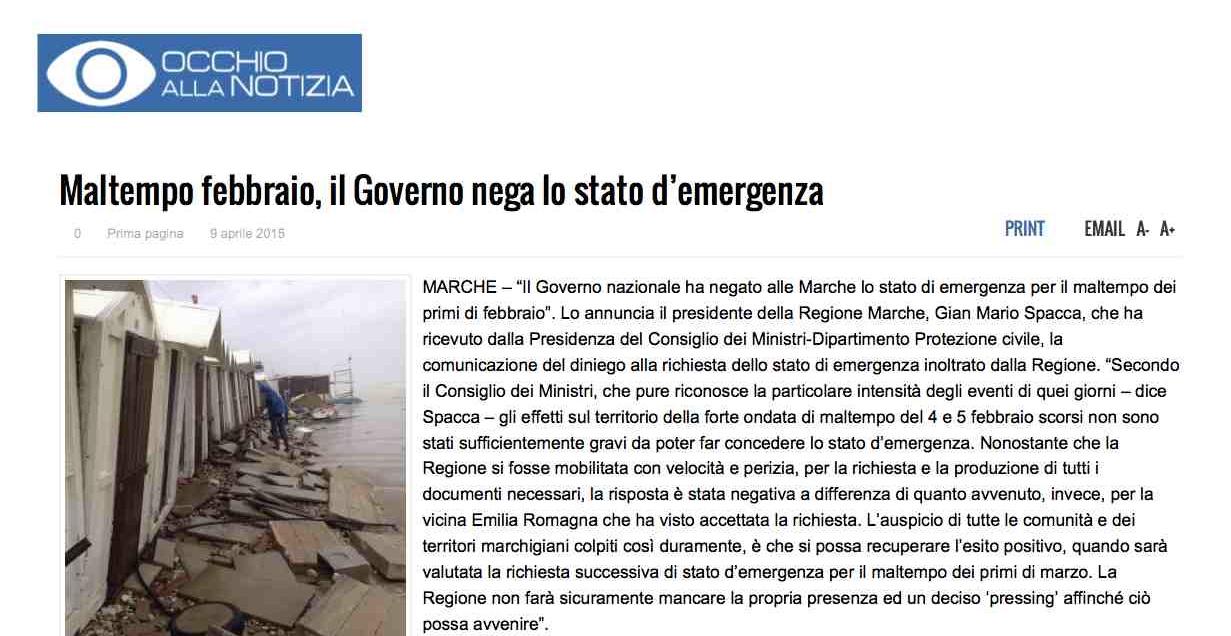 Maltempo febbraio, il Governo nega lo stato d'emergenza   Occhio alla Notizia 2