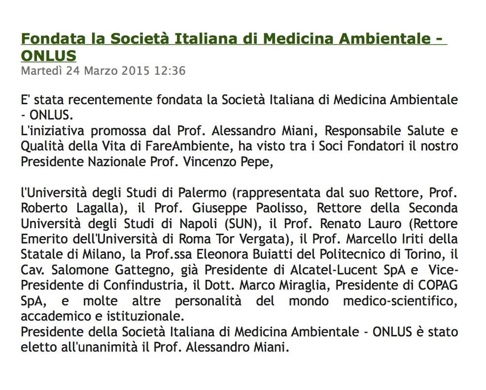 medicina Ambientale